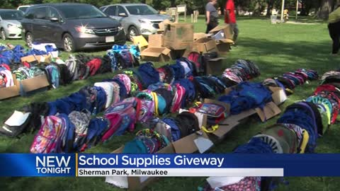 Tragedy into triumph: Sherman Park hosts school supply giveaway